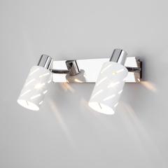 фото Настенный светильник с поворотными плафонами 20090/2 белый/хром