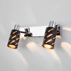 фото Настенный светильник с поворотными плафонами 20090/2 черный/хром