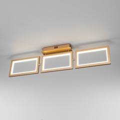 фото Потолочный светодиодный светильник 90223/3 матовое золото