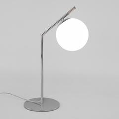 фото Настольная лампа со стеклянным плафоном 01082/1 хром