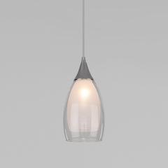 фото Подвесной светильник со стеклянным плафоном 50085/1 хром