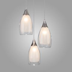 фото Подвесной светильник со стеклянными плафонами 50085/3 хром
