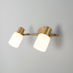 фото Настенный светильник с поворотными плафонами 20089/2 бронза