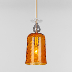 фото Подвесной светильник со стеклянным плафоном 50194/1 янтарный