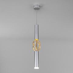 фото Подвесной светодиодный светильник 50191/1 LED матовое серебро/матовое золото