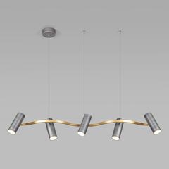фото Подвесной светодиодный светильник 90103/5 матовый серый/золото