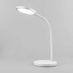 фото Светодиодная настольная лампа с беспроводной зарядкой QI Tiara белый (TL90560)