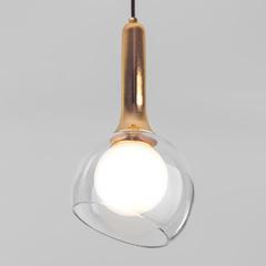 фото Подвесной светильник со стеклянным плафоном 50188/1 золото