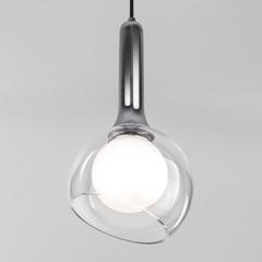 фото Подвесной светильник со стеклянным плафоном 50188/1 хром