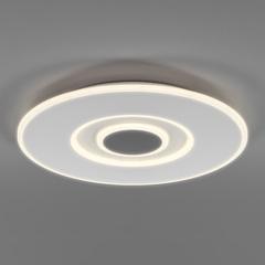 фото Потолочный светодиодный светильник с ПДУ 90219/1 белый/ серый
