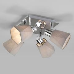 фото Потолочный светильник с поворотными абажурами 20087/4 хром/серый