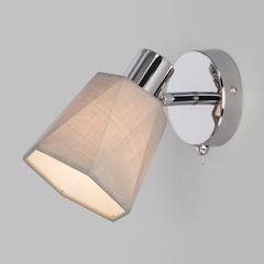 фото Настенный светильник с выключателем 20087/1 хром/серый