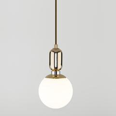 фото Подвесной светильник со стеклянным плафоном 50151/1 золото