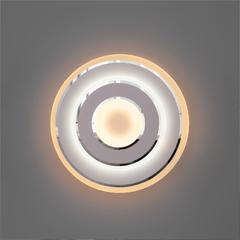 фото Настенный светодиодный светильник 90185/1 белый/хром