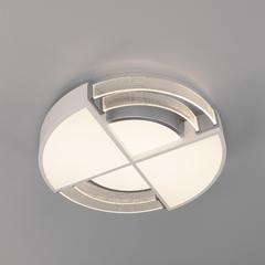 фото Потолочный светодиодный светильник с пультом управления 90181/1 белый/серебро