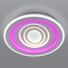 фото Потолочный светодиодный светильник с цветной подсветкой 90214/1 белый