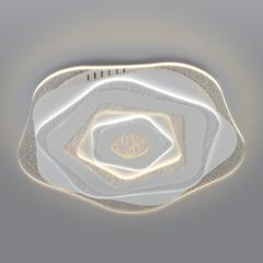 фото Потолочный светодиодный светильник с пультом управления 90210/1 белый