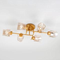 фото Потолочная люстра со стеклянными плафонами 30165/6 перламутровое золото