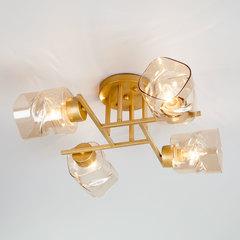 фото Потолочная люстра со стеклянными плафонами 30165/4 перламутровое золото