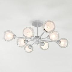 фото Потолочная люстра со стеклянными плафонами 30163/8 серебро