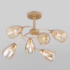 фото Потолочная люстра со стеклянными плафонами 30168/6 матовое золото