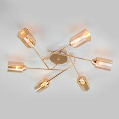 фото Потолочная люстра со стеклянными плафонами 30167/6 золото