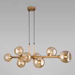 фото Подвесной светильник с круглыми стеклянными плафонами 70113/8 янтарный