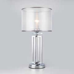 фото Настольная лампа с абажуром 01078/1 хром