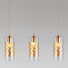 фото Подвесной светильник со стеклянными плафонами 50185/3 золото