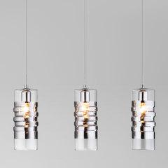 фото Подвесной светильник со стеклянными плафонами 50185/3 хром