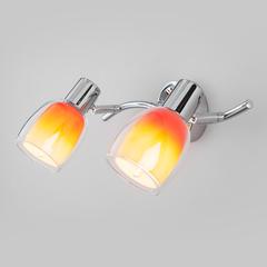 фото Настенный светильник со стеклянными плафонами 20119/2 оранжевый