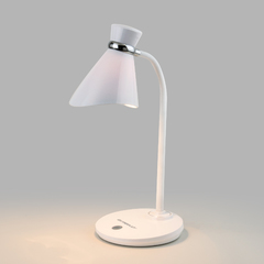 фото Настольный светильник с выключателем 01077/1 белый