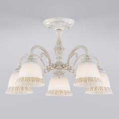 фото Потолочная люстра со стеклянными плафонами 60107/5 белый с золотом