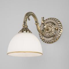 фото Классическое бра со стеклянным плафоном 60106/1 античная бронза