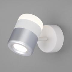 фото Настенный светодиодный светильник 20165/1 LED белый/серебро