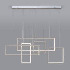 фото Подвесной светодиодный светильник с пультом управления 90178/5 сатин-никель
