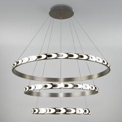 фото Дизайнерский светодиодный светильник с пультом управления 90163/3 сатин-никель