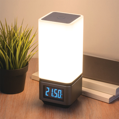 фото Smart-лампа с Bluetooth-колонкой 80418/1 серебристый