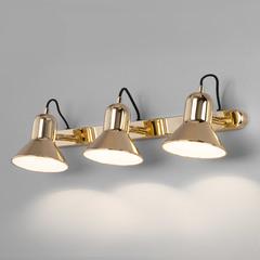 фото Настенный светильник с поворотными плафонами 20082/3 золото