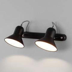 фото Настенный светильник с поворотными плафонами 20083/2 черный/хром