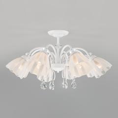 фото Потолочная люстра со стеклянными плафонами 30155/8 белый