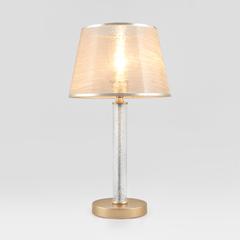 фото Настольная лампа с абажуром 01075/1 перламутровое золото