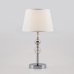 фото Настольная лампа с абажуром 01071/1 хром