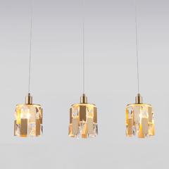 фото Подвесной светильник с хрусталем 50101/3 перламутровое золото