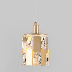 фото Подвесной светильник с хрусталем 50101/1 перламутровое золото