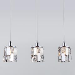 фото Подвесной светильник с хрусталем 50101/3 хром
