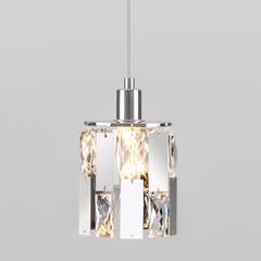 фото Подвесной светильник с хрусталем 50101/1 хром