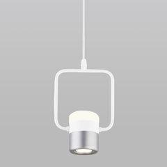 фото Подвесной светодиодный светильник с поворотным плафоном 50165/1 LED белый/серебро