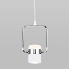 фото Подвесной светодиодный светильник с поворотным плафоном 50165/1 LED хром/белый