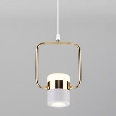 фото Подвесной светодиодный светильник с поворотным плафоном 50165/1 LED золото/белый